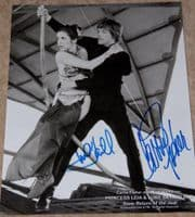 Framed 8x10 Star Wars still SIGNED by Carrie Fisher and Mark Hamill